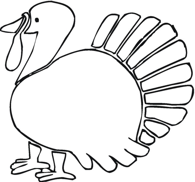 660x615 Free Thanksgiving Turkey Coloring Pages