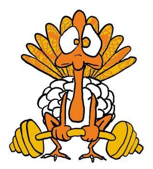317x350 Exercising Turkey Clipart