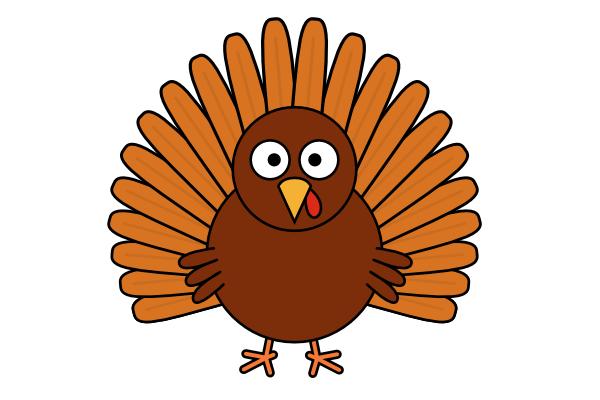 600x400 How To Draw A Cartoon Turkey Goinkscape Clipart