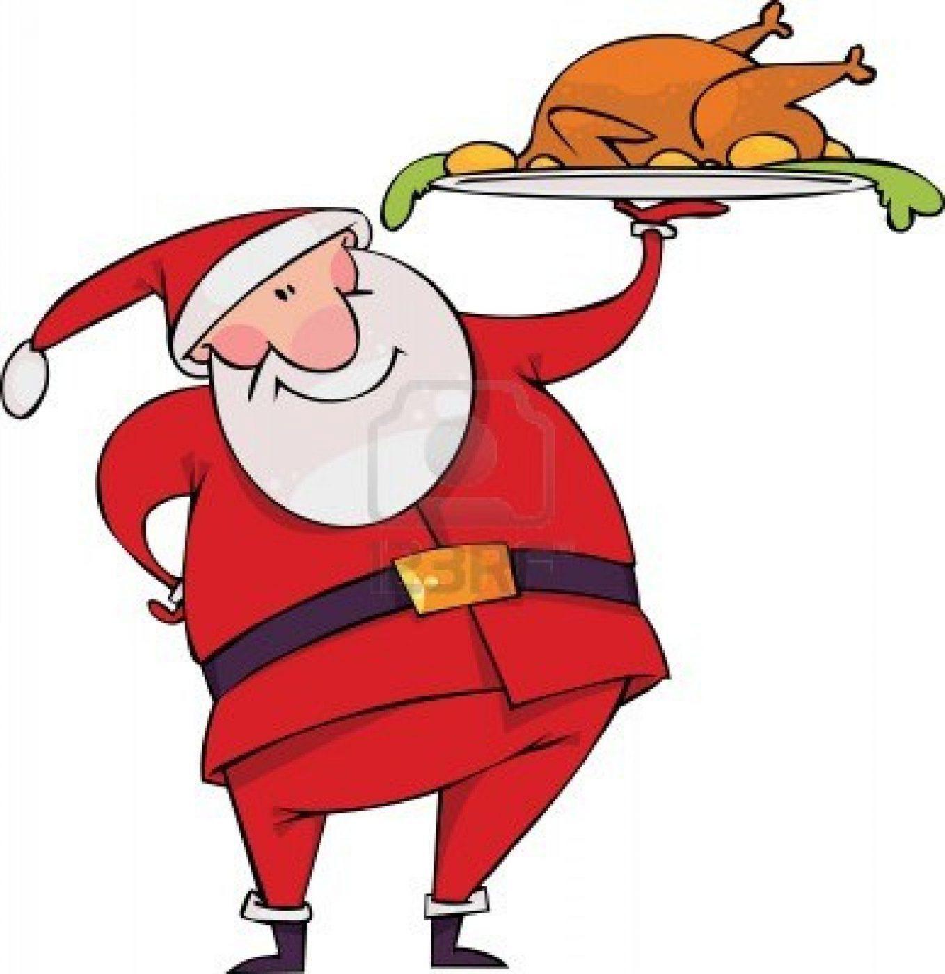 1358x1400 8331370 Santa With Christmas Turkey[1]