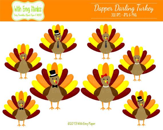 570x456 Turkeys Clipart