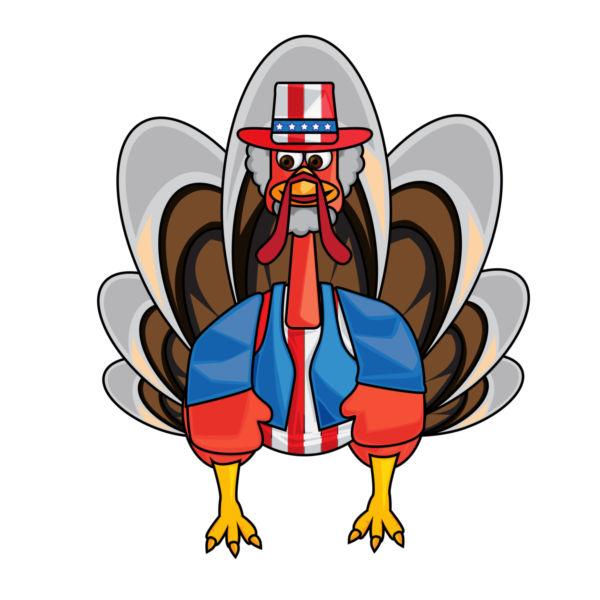 600x600 Clip Art Funny Turkey
