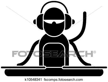 450x341 Clipart Of Dj Logo K10548341