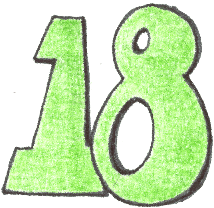 750x729 Number 18 Clipart