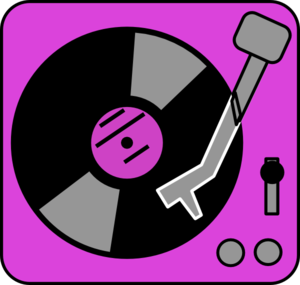 300x285 Purple Turntable Clip Art