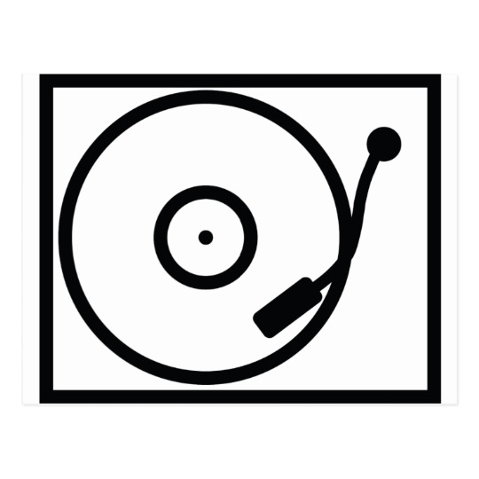 540x540 Record Player Turntable Icon Postcard
