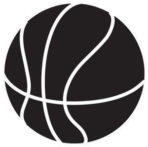 300x298 Basketball Clip Art Black And White Clipart Panda
