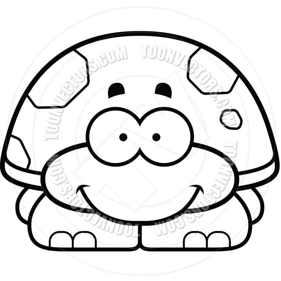 940x940 Cute Turtle Black And White Clipart