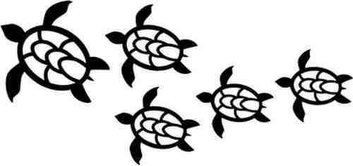 500x236 Sea Turtle Free Hawaiian Turtle Clipart Image 4 Sea