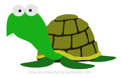 400x255 Drawing A Turtle Cartoon