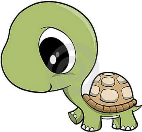 500x464 Sea Turtle Black And White Clipart