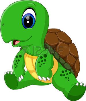 300x350 Turtle Pose Illustration Of Cute Turtle Cartoon Ilustrations