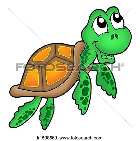450x453 Sea Turtle Clipart Happy