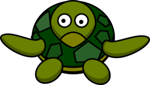300x171 Cute Turtle Clip Art