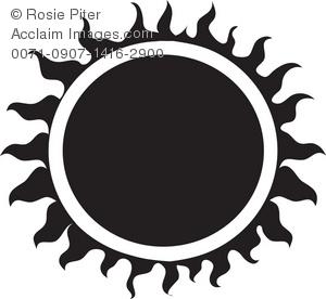 300x276 A Black Tribal Sun. Clip Art Clipart Panda
