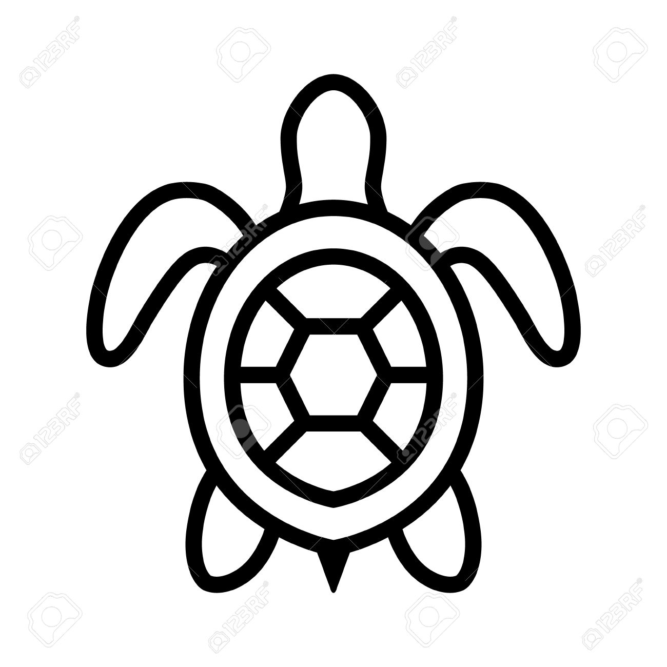 1300x1300 Sea Turtle Clipart Top View
