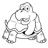 168x168 Black And White Turtle Holding A Pencil Clip Art Black And White