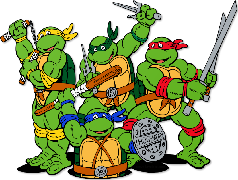 830x627 Ninja Turtle Clipart