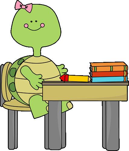 427x500 Turtle In School Clip Art
