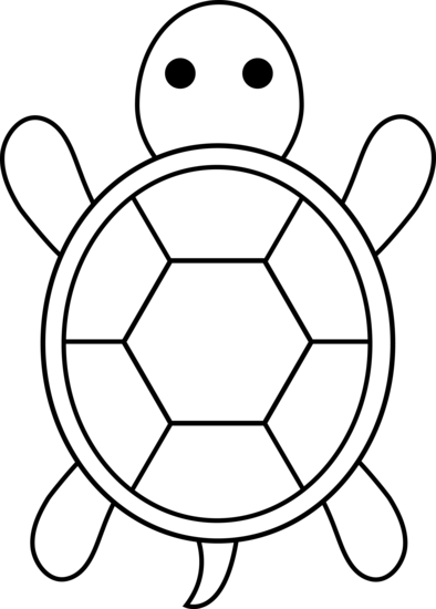 394x550 Cute Colorable Turtle