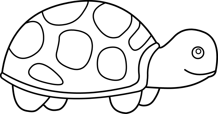 830x435 Turtle Clipart Black And White