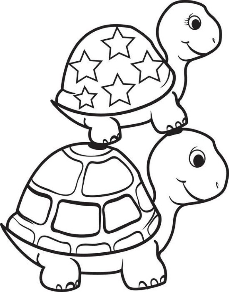 805x1024 Turtle Coloring Sheet