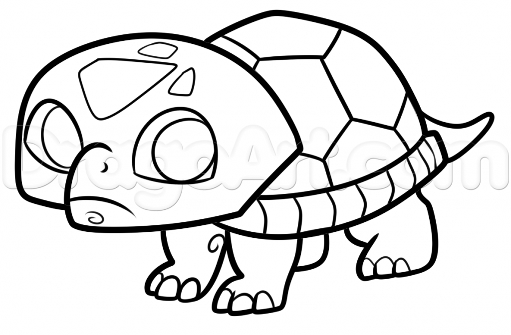 1024x672 How Do You Draw A Turtle How To Draw Turtles For Kids Step Step