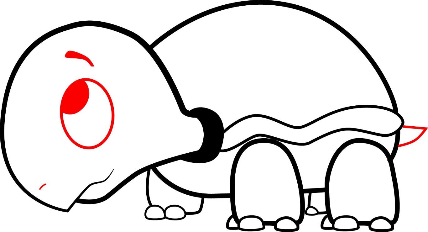 1366x740 Cartoon Turtle Drawing How To Draw A Cartoon Turtle