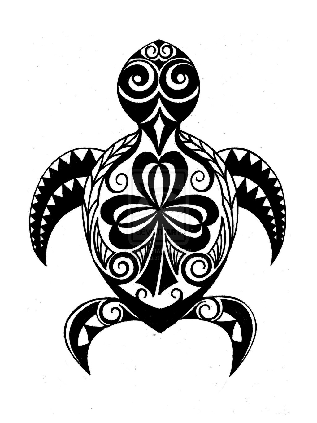 Turtle Outline | Free download on ClipArtMag