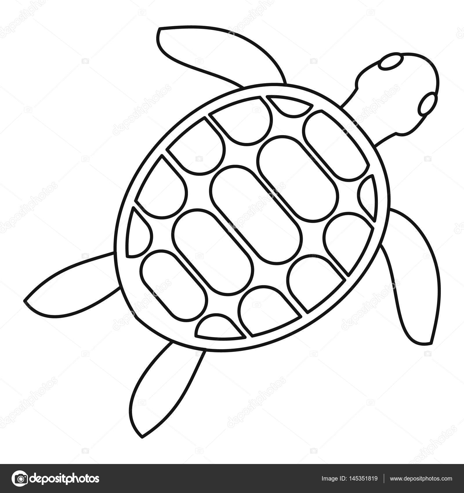 1600x1700 Tortoise Icon, Outline Style Stock Vector Ylivdesign