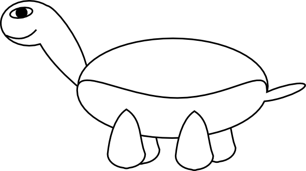 600x335 Cartoon Turtle Outline Svg Clip Arts Download