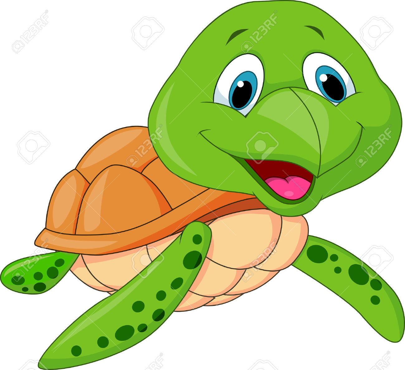 1300x1188 Cartoon Turtle Clipart