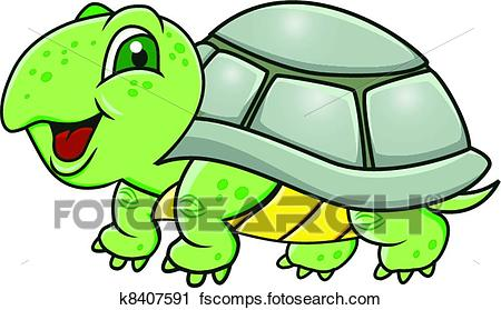 450x279 Clipart Of Turtle Cartoon K8407591