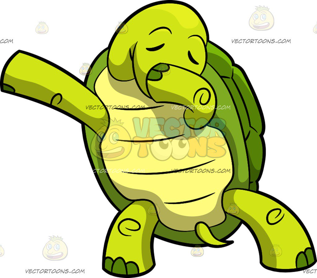 1024x897 Dabbing Turtle Cartoon Clipart