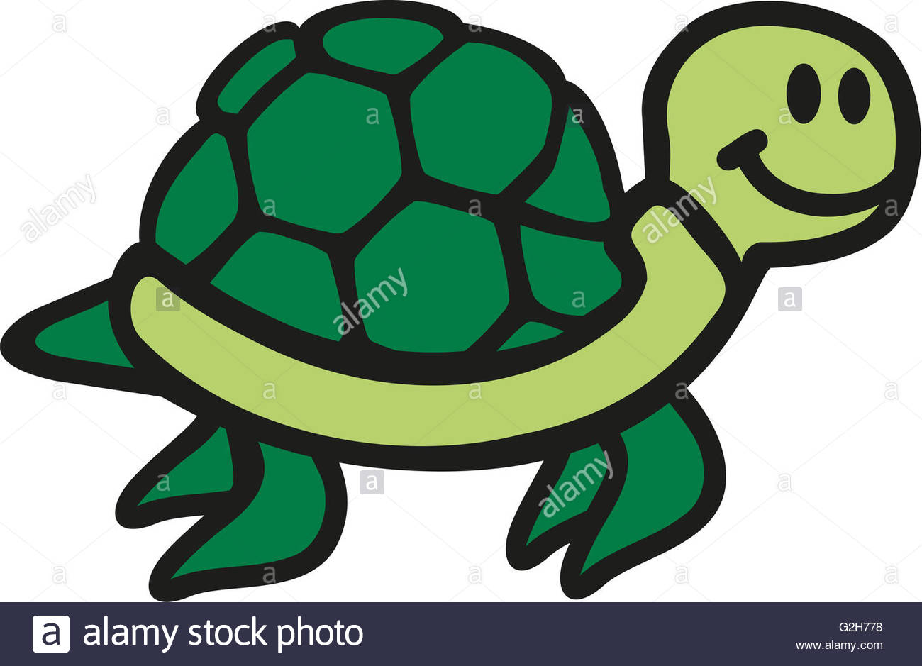 1300x939 Swimming Cartoon Turtle Cute Stock Photo, Royalty Free Image