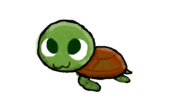 600x360 Cute Turtle Cartoon Drawing