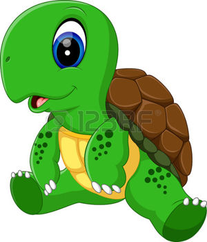 300x350 Turtle Pose Illustration Of Cute Turtle Cartoon Ilustrations