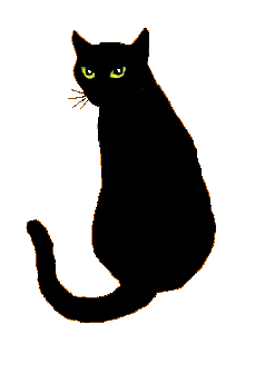 229x335 Black Cat clipart cat sleep