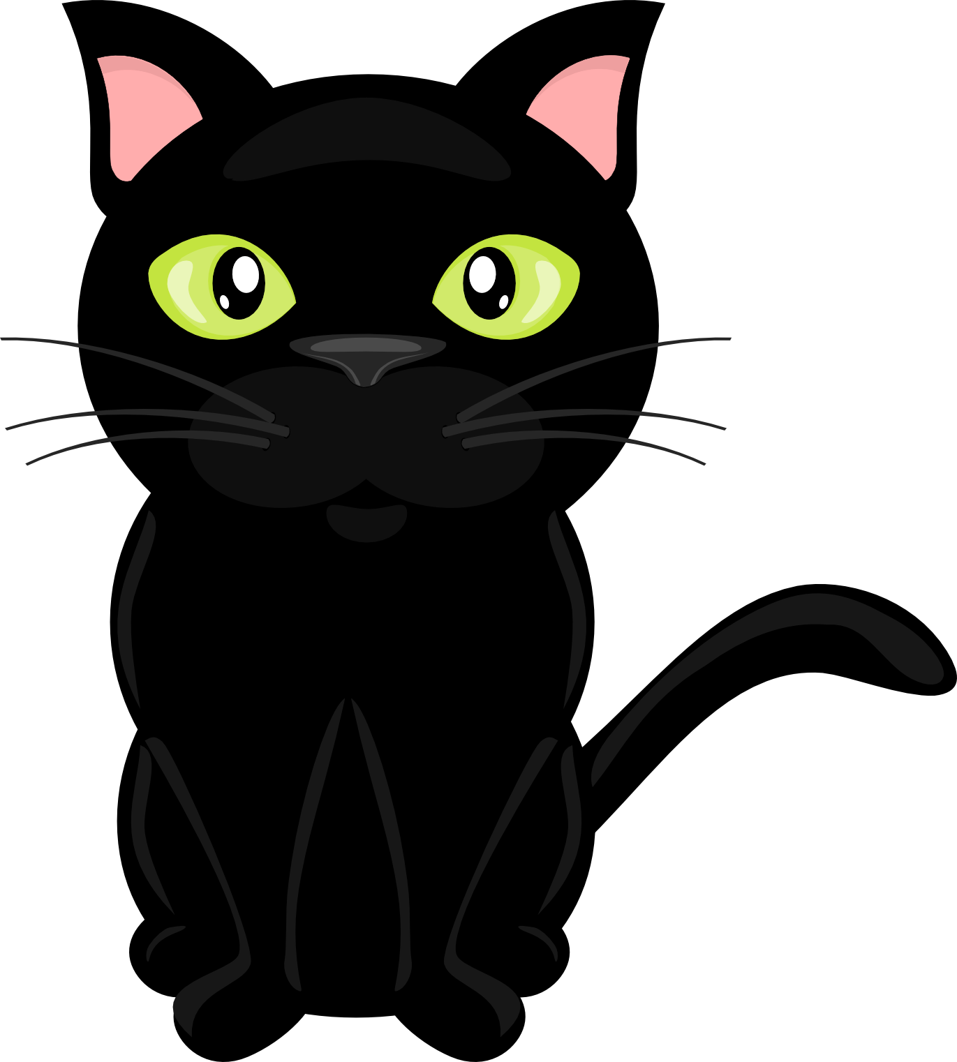 1371x1522 Cat Clipart Transparent
