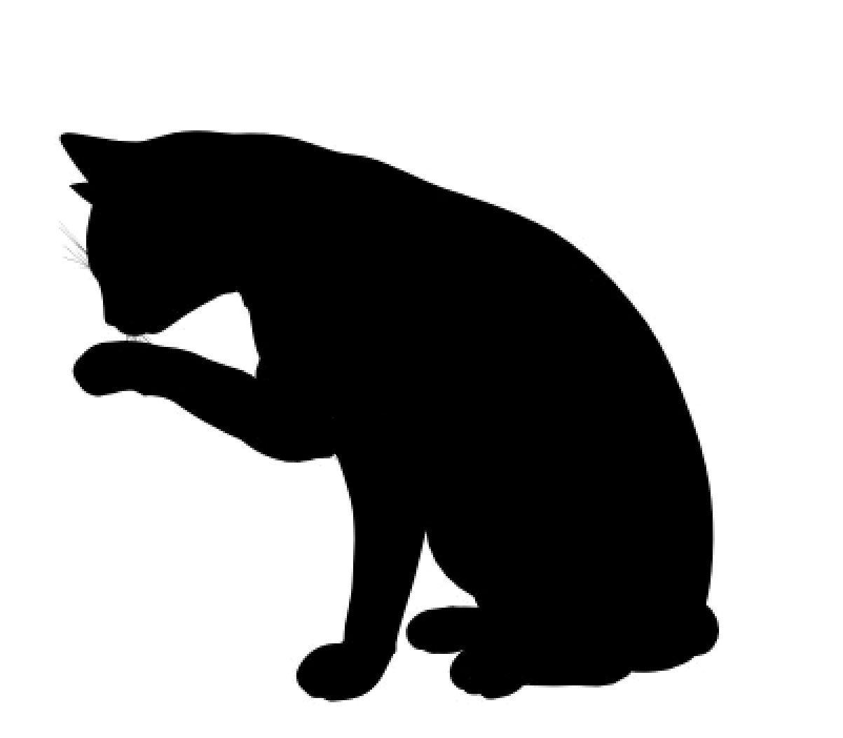 1203x1053 Cat outline clipart