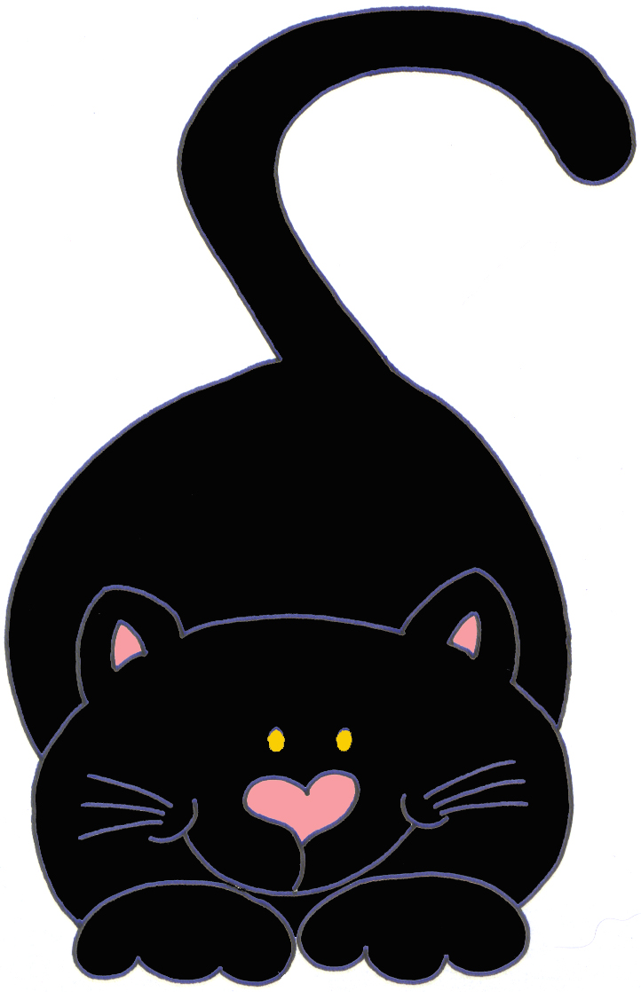 722x1118 Gatinhos pretos para decoupage Black cats, Clip art and Cat