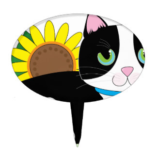 324x324 Tuxedo Cat Cake Toppers Zazzle