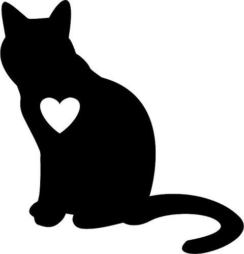 480x500 Tuxedo Cat clipart animal silhouette