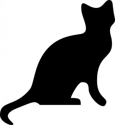 391x425 Tuxedo Cat clipart silhouette