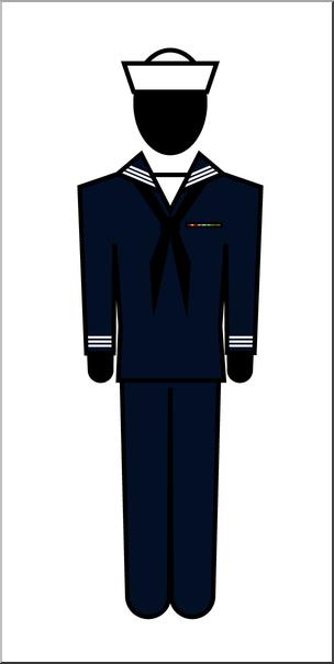 304x604 Clip Art People Seaman Male Color I Abcteach