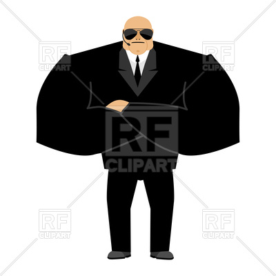 400x400 Bald Bodyguard, Face Control Of Nightclub, Strong Man In Black