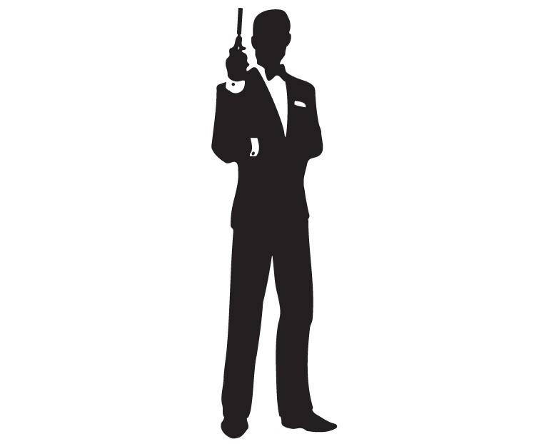 769x622 James Bond Clip Art