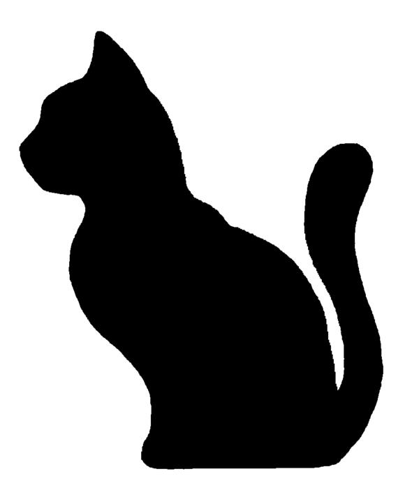 600x702 Tuxedo Cat Clipart Silhouette