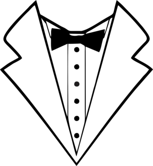 314x340 Tuxedo For T Shirts Clipart