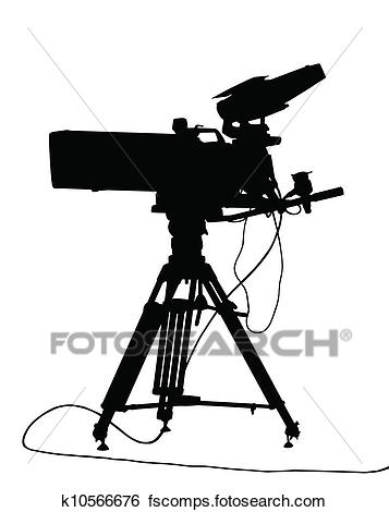 357x470 Clip Art Of Tv Camera Isolation K10566676